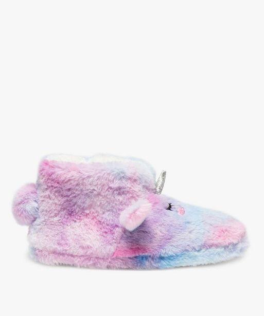 Chaussons femme boots multicolores licorne  offre à 9,99€