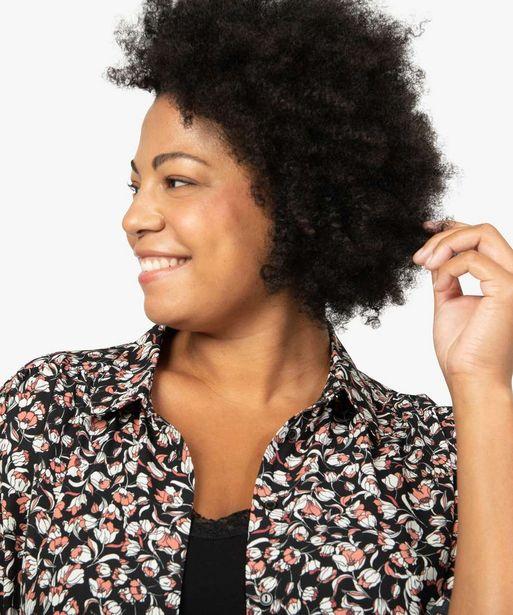Chemise femme à motifs fleuris avec fronces sur les épaules offre à 24,99€