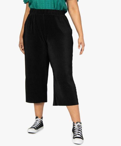 Pantalon femme en maille plissée offre à 13,99€