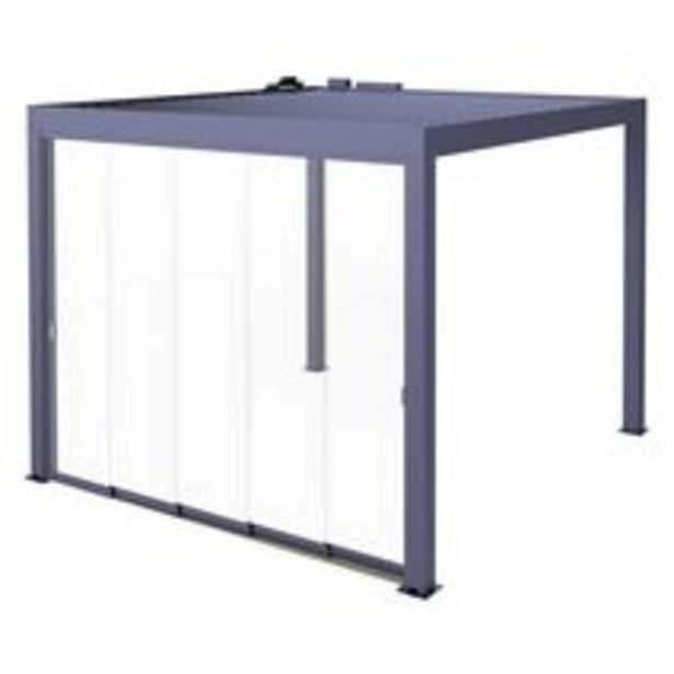 Paroi de façade vitrée pour pergola Fira 3m offre à 2429,1€