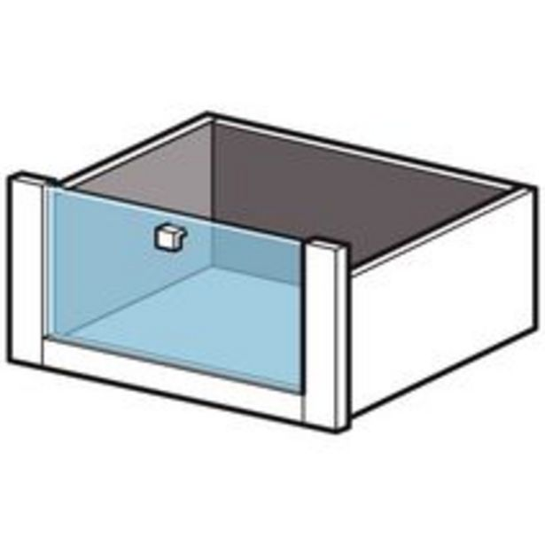 Tiroir façade verre H.31.6 cm pour Dressing Espace offre à 50,93€