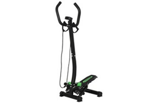 Stepper Mini stepper avec guidon, extenseurs, compteur électronique et tapis antidérapant noir et vert HOMCOM offre à 82,58€