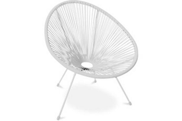 Chaise et fauteuil de jardin Fauteuil acapulco - piétement blanc - nouvelle édition blanc Iconik Interior offre à 63,9€