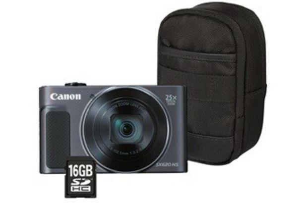 Appareil photo compact POWERSHOT SX620 HS NOIR + ETUI + SD 16GO Canon offre à 199,99€