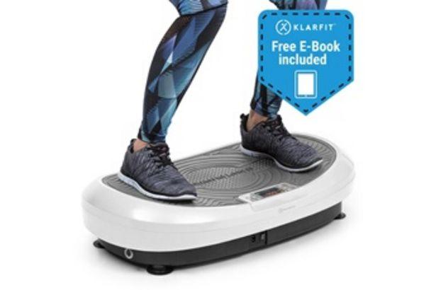 Appareil de musculation VIBE 4DX plateforme vibrante & oscillante pour entrainement fitness - 10 modes & 30 vitesses - 440W - blanc Klarfit offre à 289,99€