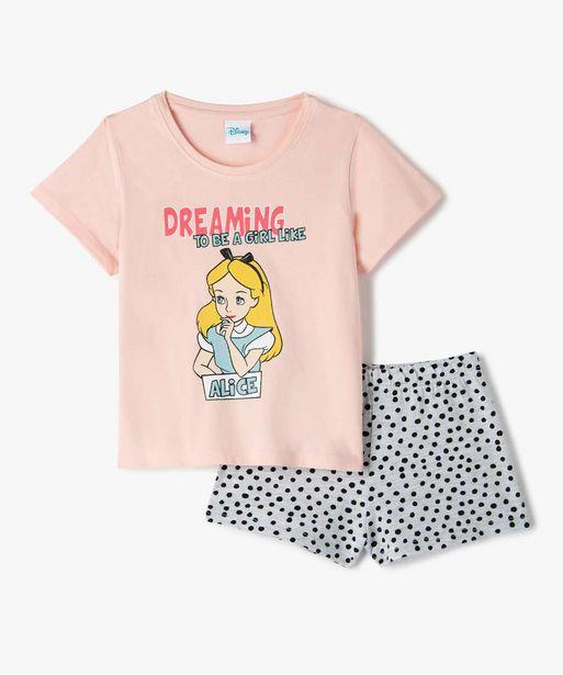 Pyjashort fille avec motif Alice au pays des merveilles - Disney offre à 9,09€