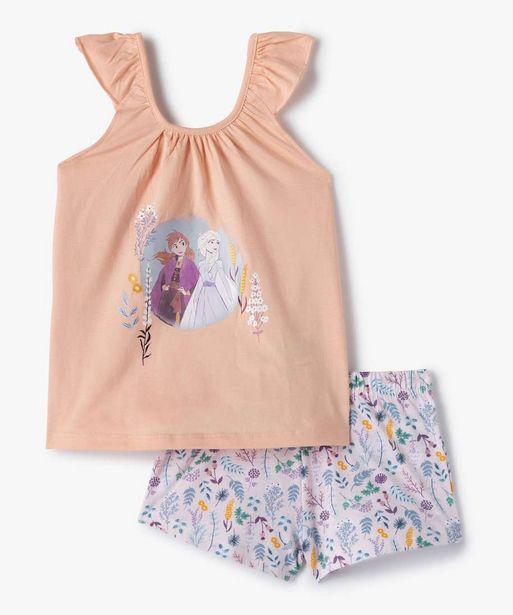 Pyjashort fille imprimé - La Reine des Neiges offre à 9,09€