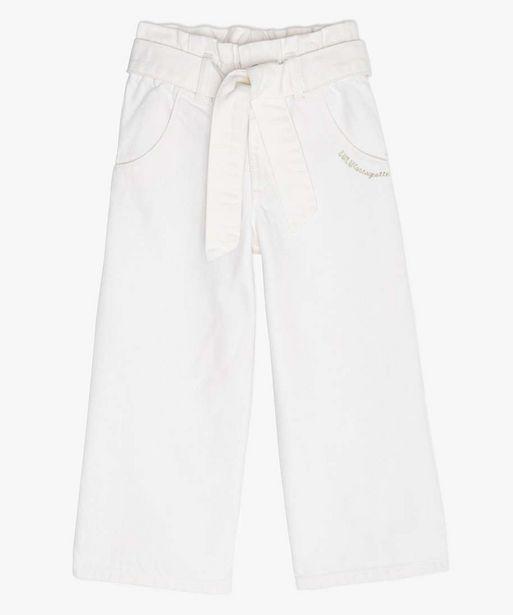Pantalon fille coupe large avec ceinture – Lulu Castagnette offre à 8,99€