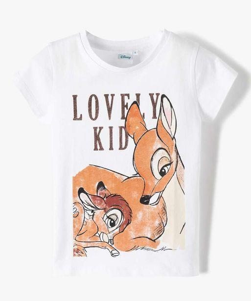 Tee-shirt fille à manches courtes imprimé Disney - Les 101 Dalmatiens offre à 6,99€