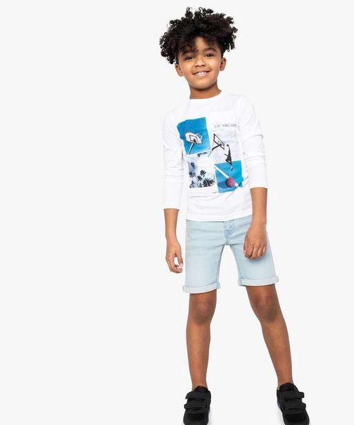 Bermuda garçon en jean stretch - Lulu Castagnette offre à 7,49€