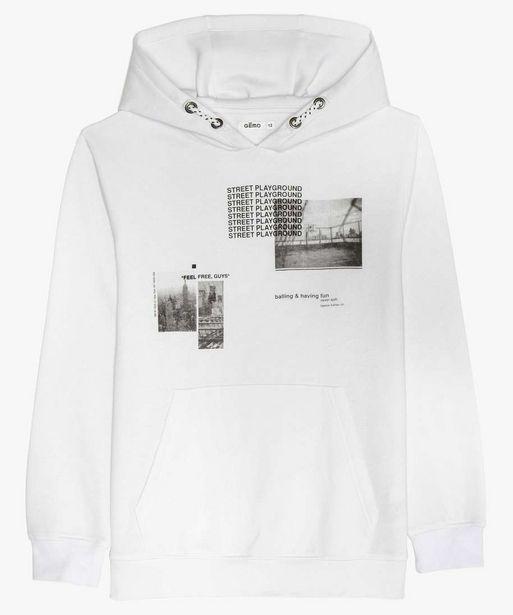 Sweat garçon à capuche avec motif urbain offre à 7,49€