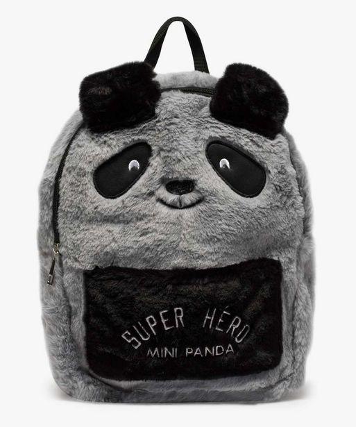 Sac à dos garçon en maille peluche forme panda offre à 12,99€