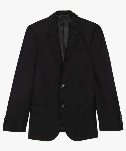 Veste de costume garçon unie offre à 14,99€