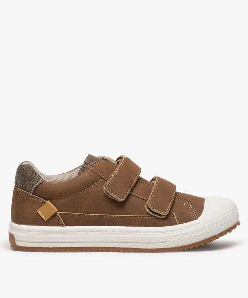 Chaussures basses garçon bi-matières à scratchs offre à 17,49€