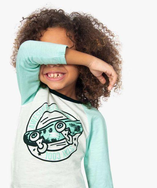 Tee-shirt garçon à manches longues avec motif skate offre à 3,99€