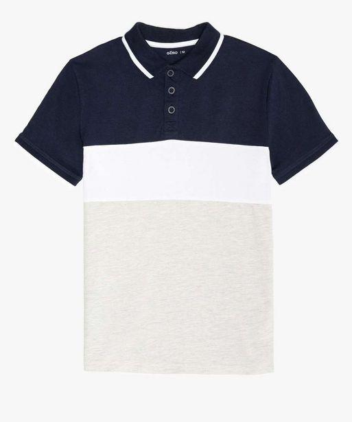Polo garçon multicolore à manches courtes offre à 7,99€