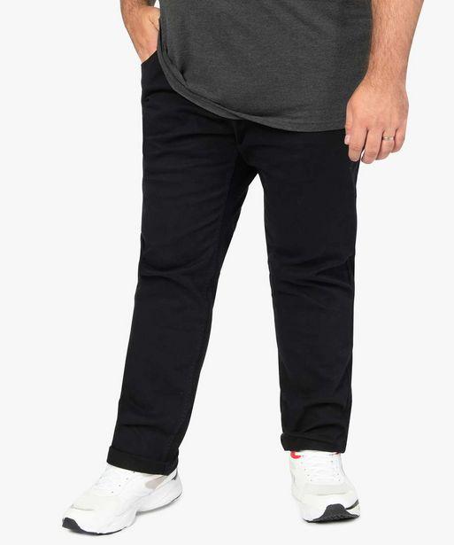 Pantalon homme coupe Straight en toile épaisse offre à 24,99€