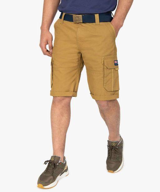 Bermuda homme cargo avec ceinture - Roadsign offre à 17,49€