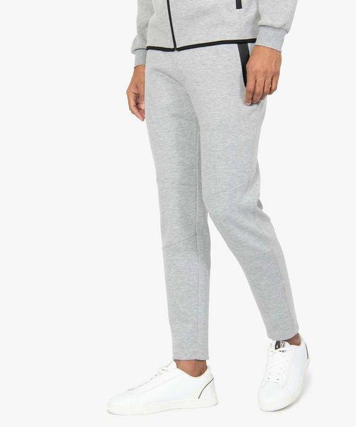 Pantalon homme en maille à taille élastiquée offre à 29,99€