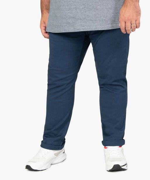 Pantalon homme chino en stretch coupe straignt offre à 29,99€