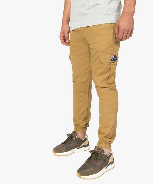 Pantalon homme cargo à taille élastiquée - Roadsign offre à 20,99€