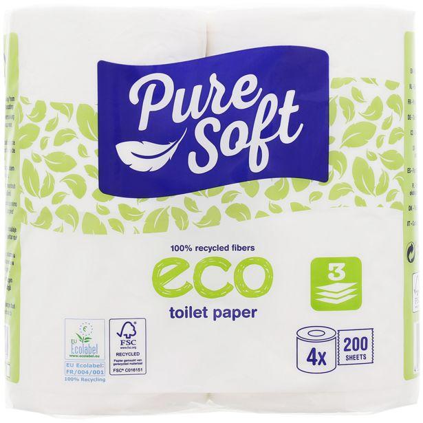 Papier toilette éco Pure Soft  offre à 1,24€