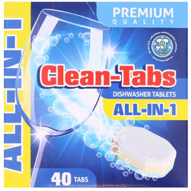 Tablettes pour lave-vaisselle Clean Tout-en-1 offre à 2,99€