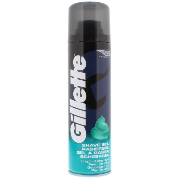 Gel à raser Gillette Sensitive offre à 2,49€