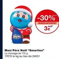 Maxi Pere Noel Smarties offre à 3€