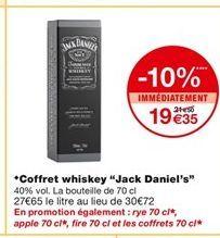 Coffret whiskey Jack Daniel`s offre à 19,35€