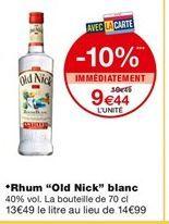 Rhum Old Nick blanc offre à 9,44€