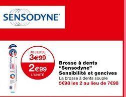 Brosse à dents Sensodyne Sensibilite et gencives offre à 3,99€