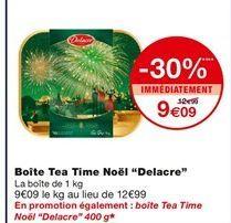 Boite Tea Time Noel Delacre offre à 9,09€