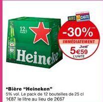 Bière Heineken offre à 5,59€