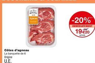 Côtes d`agneau offre à 19,2€