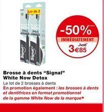 Brosse à dents Signal White Now Detox offre à 3,85€
