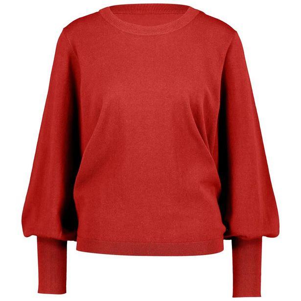 Pull femme rouge offre à 15€