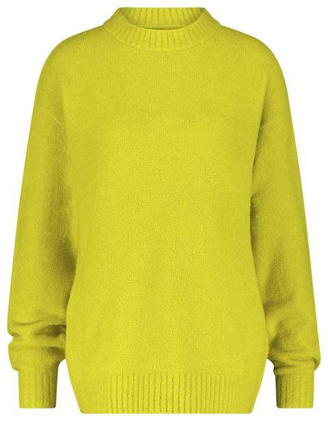 Pull femme avec laine citron vert offre à 24€