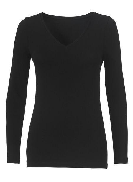 T-shirt femme, coton biologique noir offre à 3€