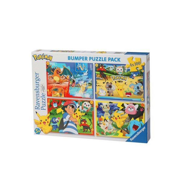 PUZZLE 4X100 PIECES - POKEMON offre à 12,99€