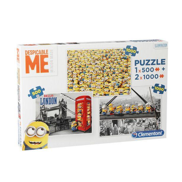 PUZZLE ADULTE 1X500 + 2X1000 - MINIONS offre à 10,99€