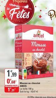 Mousse au chocolat Ancel offre à 1,31€