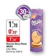 Biscuits choco pause Milka offre à 1,25€