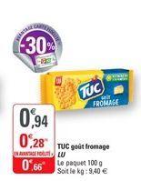 TUC gout fromage LU offre à 0,66€