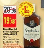 Finest blanded scotch whisky Ballantine's offre à 19,48€