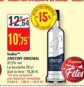 Vodka Eristoff original offre à 10,75€
