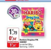 Bonbons dragibus pik Haribo offre à 1,25€