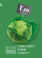 Chou vert frise offre à 1,2€