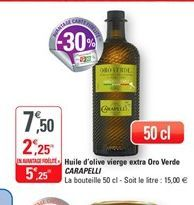 Huile d'olive extra vierge oro verde Carapelli offre à 5,25€