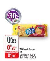 Tuc gout bacon Lu offre à 0,58€